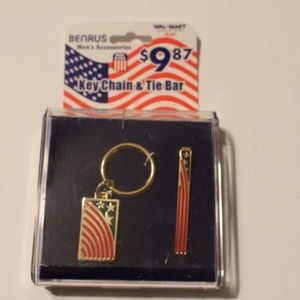 Brand New Tie Bar and Key Ring